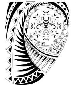 a-polynesian-tattoo-design-with-tiki-enata-shark-symbols
