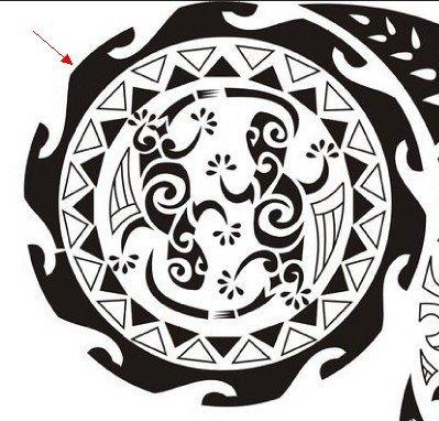 ocean-symbols-embedded-in-a-polynesian-tattoo-design