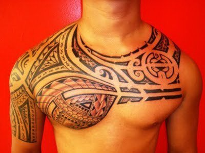 Polynesian Neck Tattoo