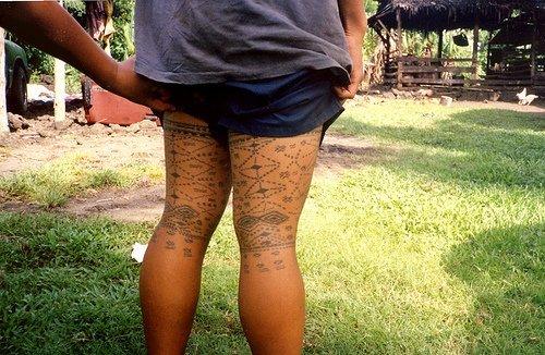 Polynesian Thigh Tattoo