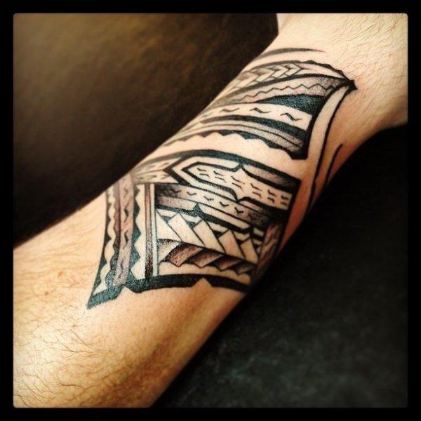 Polynesian Wrist Tattoo