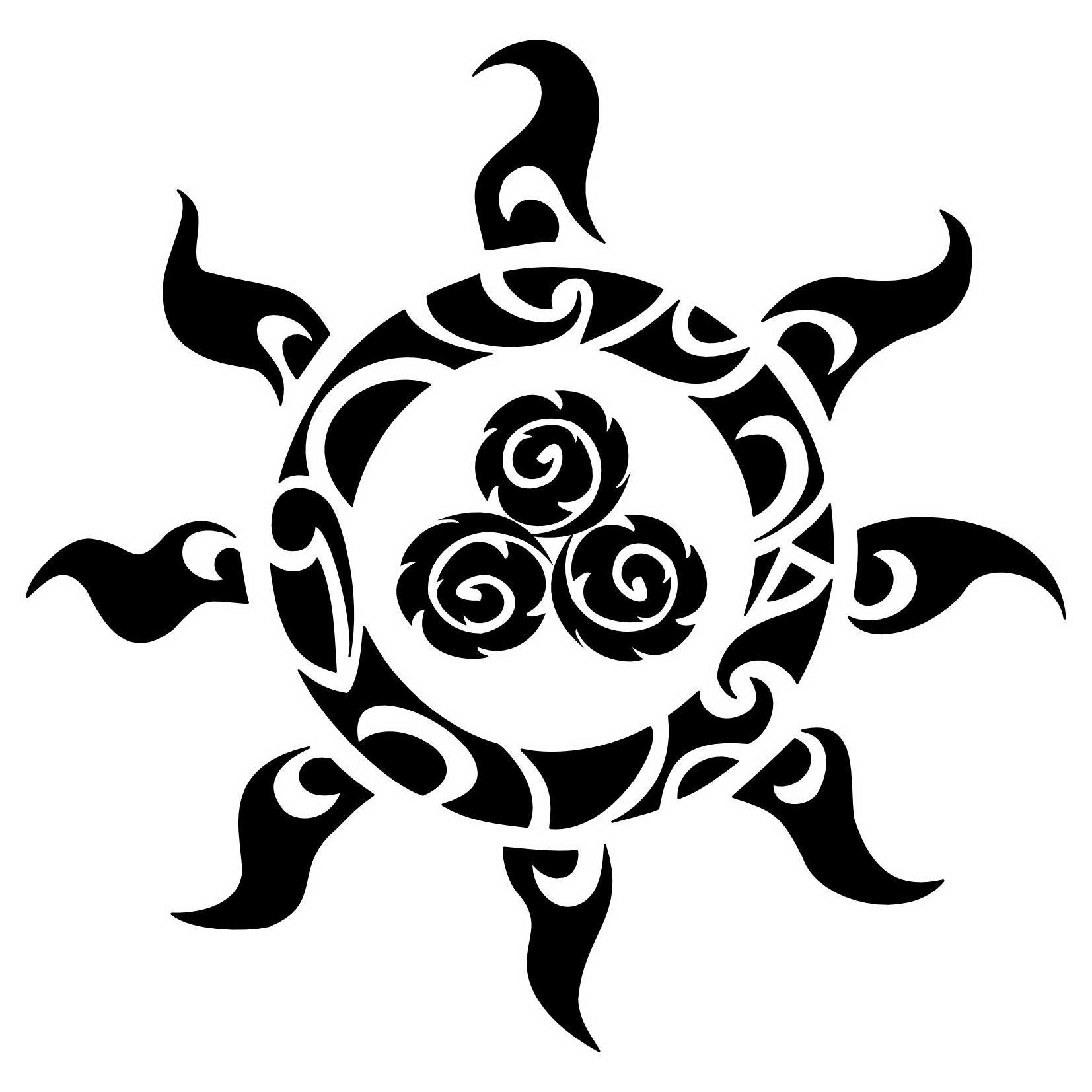 polynesian_tattoo_meanings_sun_design_sample