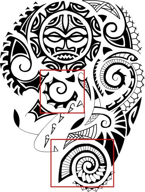 polynesian_tattoo_meanings_sea_shells_design_sample-png
