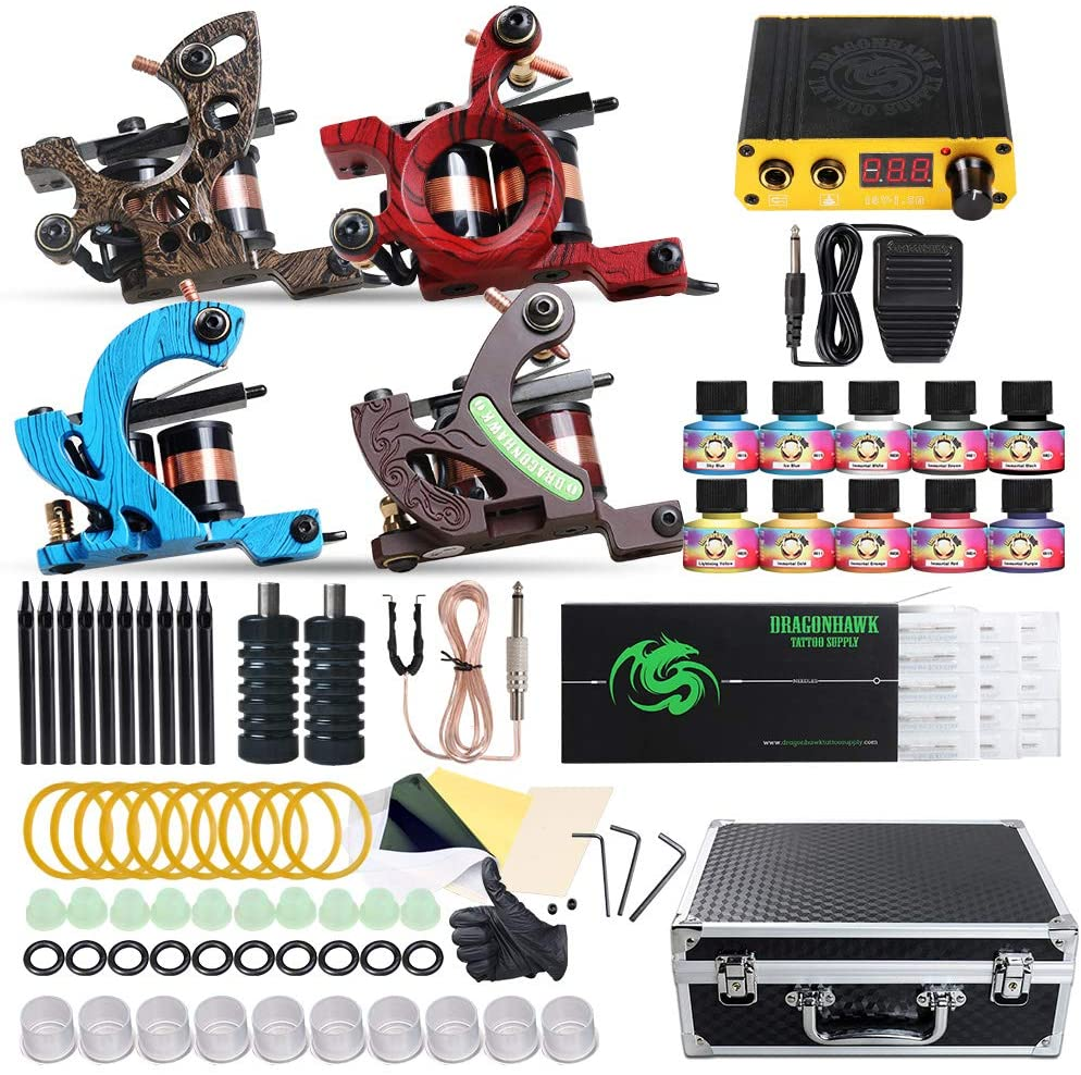 Dragonhawk Complete Tattoo Kit 4 Tattoo Machines Review