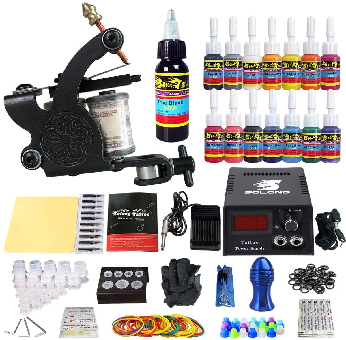 Solong Tattoo Complete Starter Tattoo Kit 1 Pro Machine Guns Review